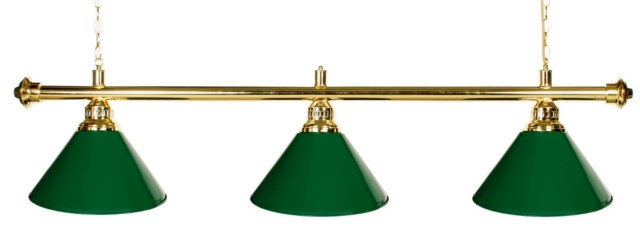"61""  Pool Table Light - Billiard lamp With Metal Green Shades For 7 or 8' Table"